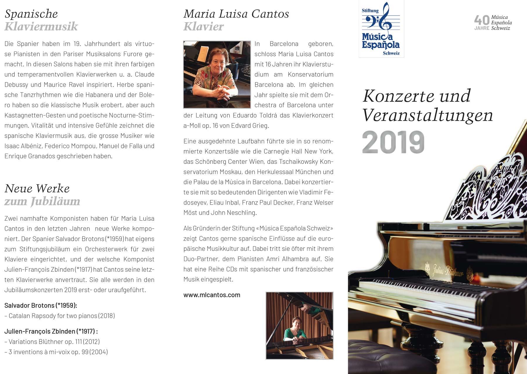 Flyer 40 Jahre Musica Espanola